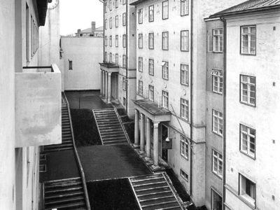 Asunto-osakeyhtiö Atrium ja hotelli Hospits Betel, Turku, Erik Bryggman