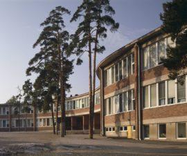 Meilahden kansakoulu, Helsinki, Viljo Revell, Osmo Sipari, Sulo Savolainen