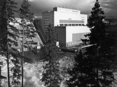 Oulujoki Oy:n voimalat yhdyskuntineenAarne Ervi